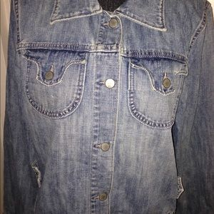 Women's jean jacket size XL Preowned